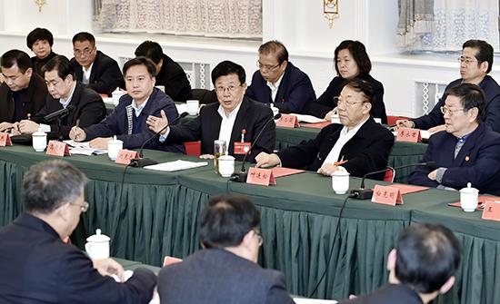 赵克志参加省直代表团审查省党代会报告
